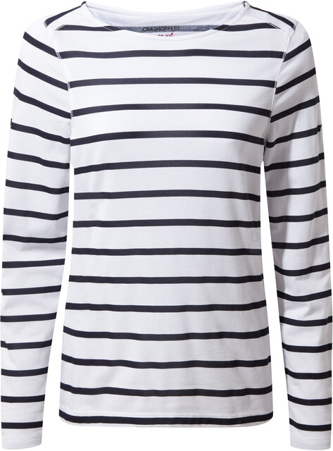 Craghoppers NosiLife Erin II Longsleeved Top Damen blue navyoptic white stripe